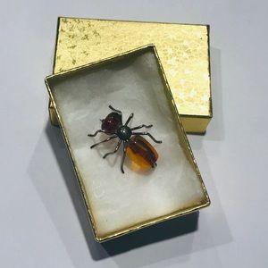 Jewelry - Vintage Amber spider brooch